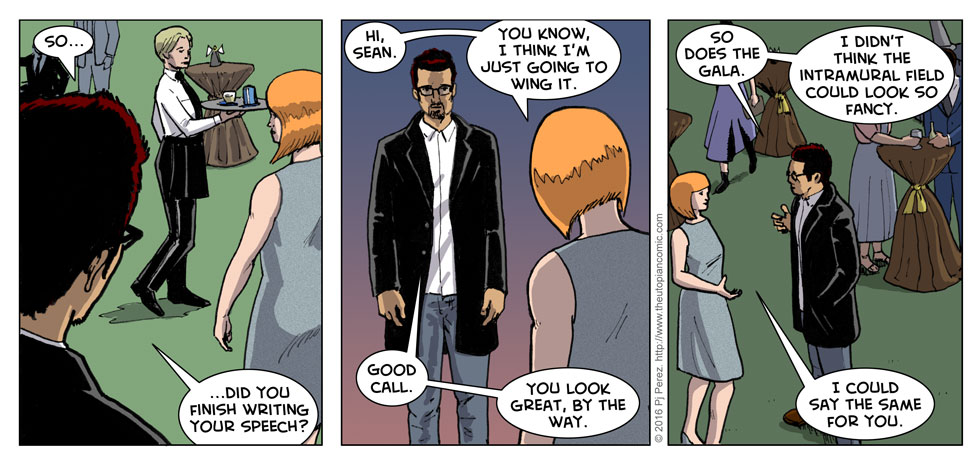 That kiss a few strips ago may have been awkward, but it hasn't stopped Michelle and Sean from flirting up a storm.