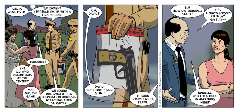 Pretend that's exactly what the gun looked like all the previous times you saw it in this comic.